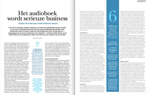 Het audioboek wordt serieuze business Boekblad